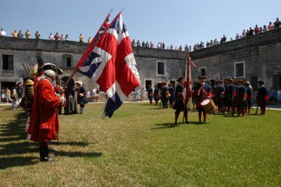 Change of Flags at Castillo de San Marcos