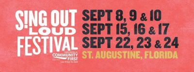 Sing Out Loud Festival Sept. 9 Event CANCELLED