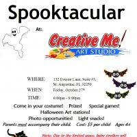 Halloween Spooktacular at Creative Me Art Studio