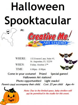 Halloween Spooktacular at Creative Me Art Studio