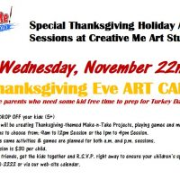 Thanksgiving Eve Art Camp - P.M. Session