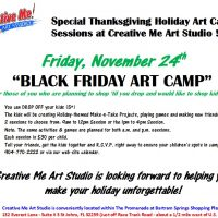 Black Friday Art Camp - P.M. Session