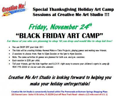 Black Friday Art Camp - P.M. Session