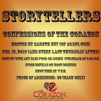 Wanted! Storytellers for Confessions of The Corazo...