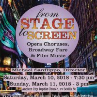 From Stage to Screen, Opera Choruses, Broadway Fare & Film Music