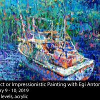 Abstract or Impressionistic Painting in Acrylic with Egi Antonaccio