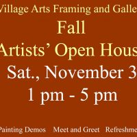 Carol Grice Curran and Regina Holderness October Featured Artists at Village Arts Framing