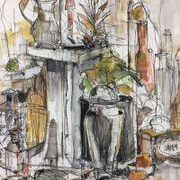 Mixed Media Artist Nancy Hamlin Vogler- Works on Paper
