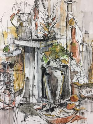 Mixed Media Artist Nancy Hamlin Vogler- Works on Paper