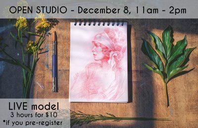 Open Studio: LIVE model, 3 hours
