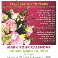 Bursting With Blooms Gala Benefiting the St. Augustine Community Chorus & St. Augustine Orchestra