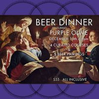 Beer Dinner featuring Purple Olive