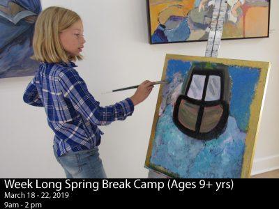 Spring Break Arts Workshops (ages 9+)
