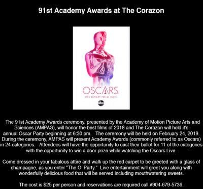 91st Academy Awards at The Corazon
