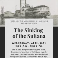 Wednesday Brown Bag Lunch Program: The Sinking of the SS Sultana: An American Tragedy