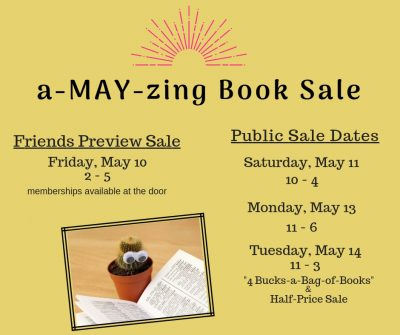 Friends a-MAY-zing Book Sale!
