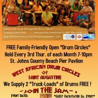 West African Drum Circles of Saint Augustine - Free Family-Friendly Open Events (*)