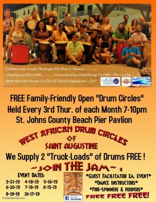 West African Drum Circles of Saint Augustine - Free Family-Friendly Open Events