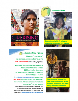 Girl Rising presented by St  Augustine Film Society, Compassionate