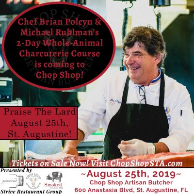 Praise the Lard, St. Augustine! Learn Charcuterie with Chef Brian Polcyn and Michael Ruhlman