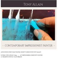 Artist Demo by Contemporary Impressionistic Painter,Tony Allain