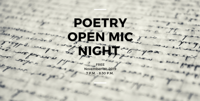 Poetry Open Mic Night with the Ancient City Poets