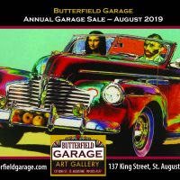 The Annual Fine Art Garage Sale at Butterfield Gallery in August