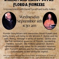 Wednesday Brown Bag Lunch Program - William and Nancy Duval: Florida Pioneers