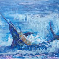 Butterfield Garage's Feature Artist Mike Fitzpatrick, fishes and paints with equal enthusiasm!