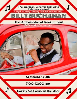 Billy Buchanan At The Corazon: A Sock Hop