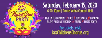 Jax Children's Chorus Mardi Gras Party