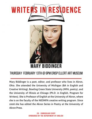 Poetry Reading by Mary Biddinger