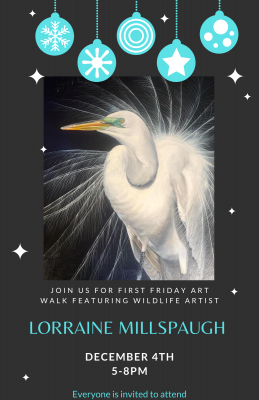 December Art Walk with live Painting by Lorraine Millspaugh