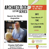Search for Old St. Augustine presented by the St. Augustine Archaeological Association