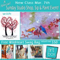 Special Sunday Studio: Paint & Sip Class + WildHeart Shopping