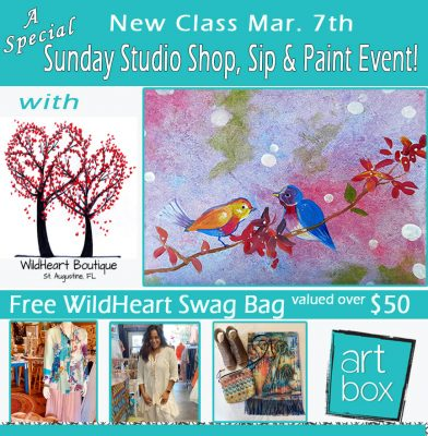 Special Sunday Studio: Paint & Sip Class + Wil...
