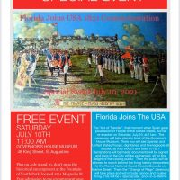 Florida Joins The USA, 1821 Commemoration
