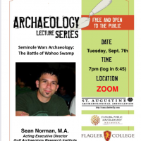 St. Augustine Archaeological Association Monthly Meeting
