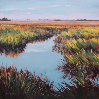beyond_the_marsh,_16_x_16
