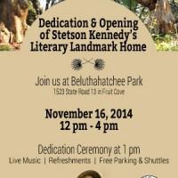 Dedication of Stetson Kennedy's Literary Landmark Home & Beluthahatchee Park